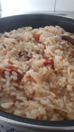 Absorb until soft and creamy rice