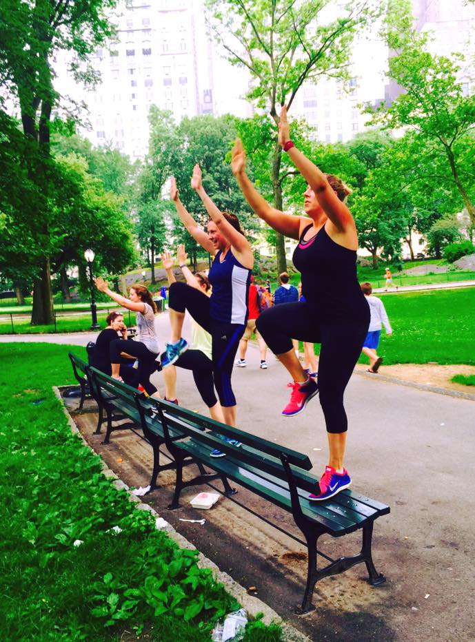 Image result for HIIT in the park bench